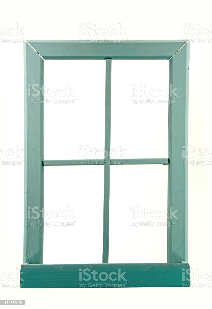 Old Wood Window Frame with Copy stock photo