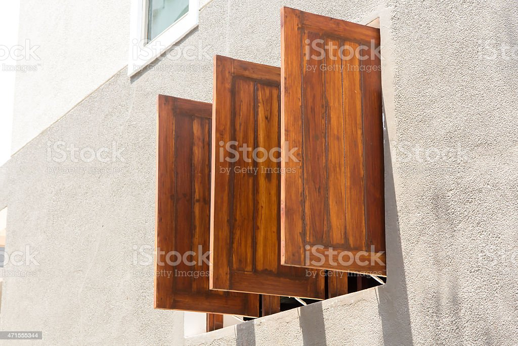 Old wood windows royalty-free stock photo