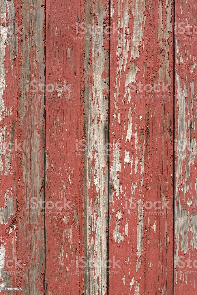 Old wood with red paint stock photo