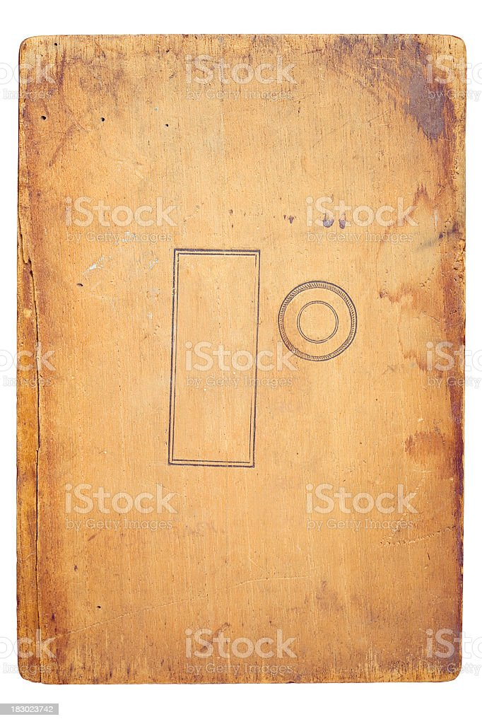 Old wood with work PATH royalty-free stock photo
