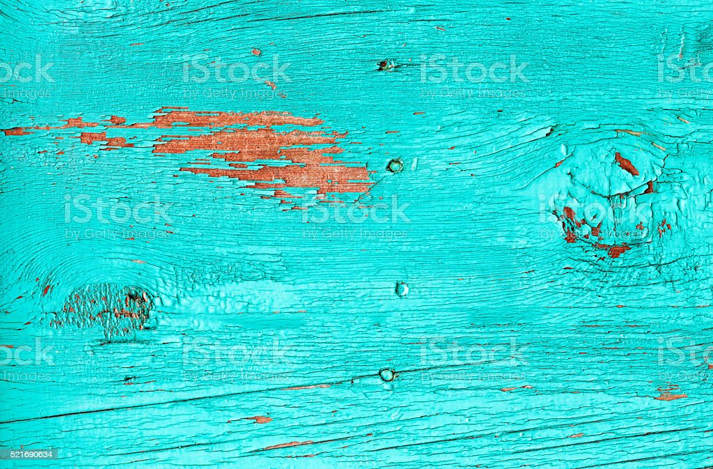 old wooden background, blue color stock photo