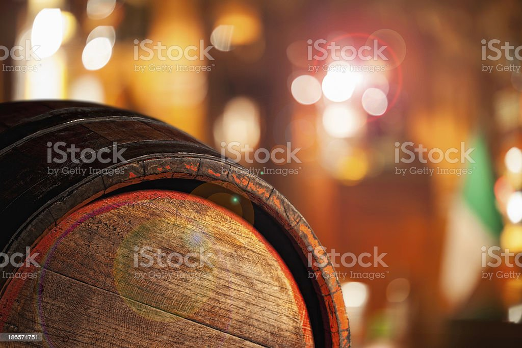 Old wooden barrel royalty-free stock photo