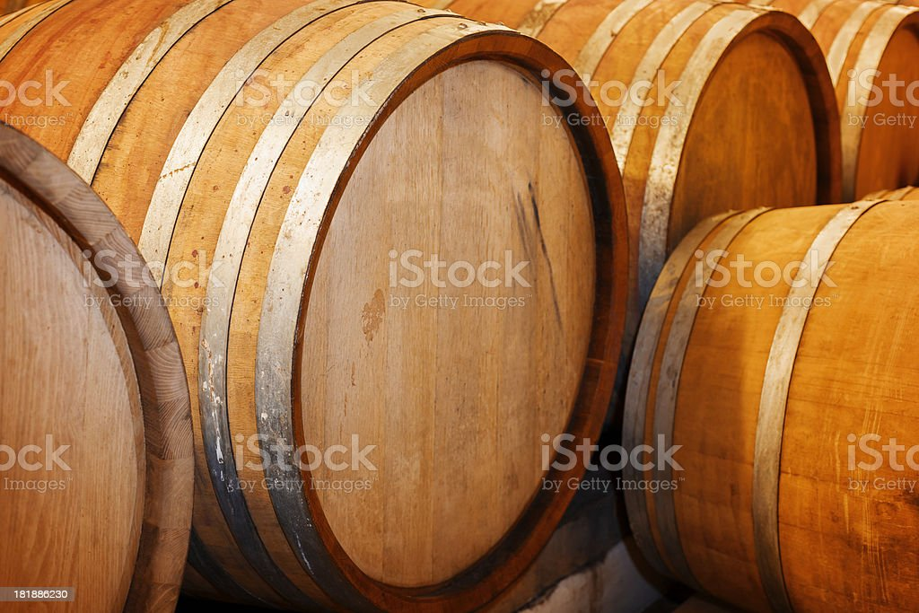 Old wooden barrels royalty-free stock photo