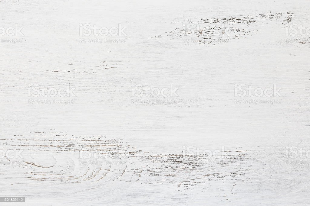 Old wooden board painted white. stock photo