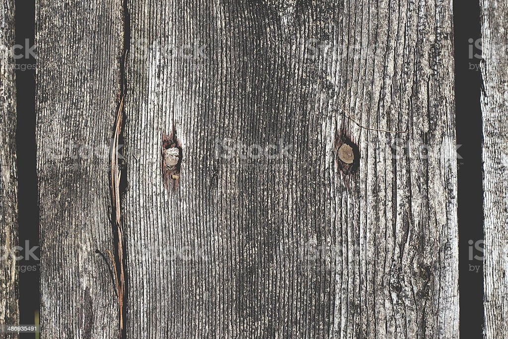 Old wooden boards and nails stock photo