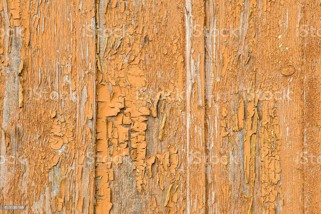 Old wooden boards with shabby paint. Background with horizontal lines. stock photo