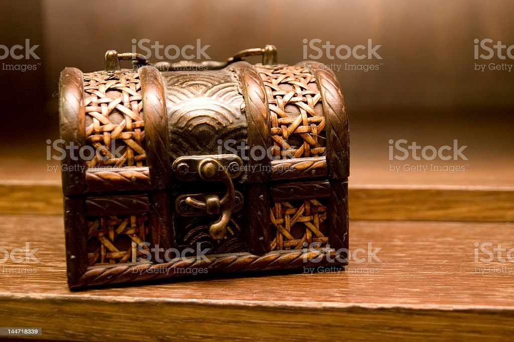old wooden box royalty-free stock photo