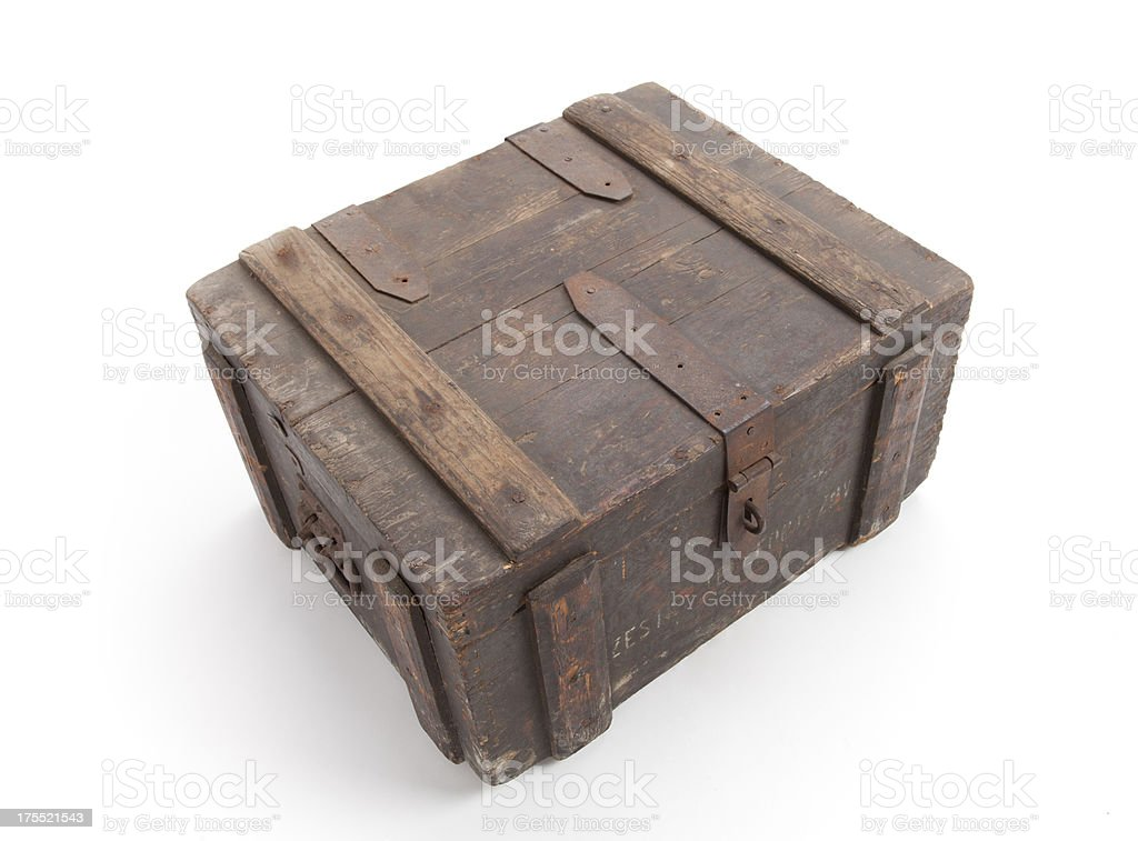 Old wooden Box stock photo