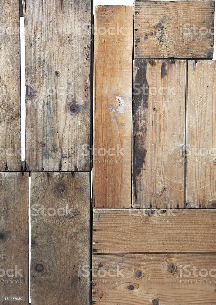 Old wooden boxes in a stack. royalty-free stock photo