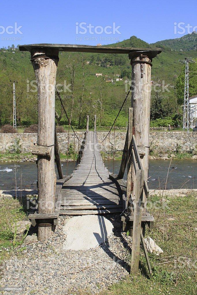 Old wooden Bridge stock photo