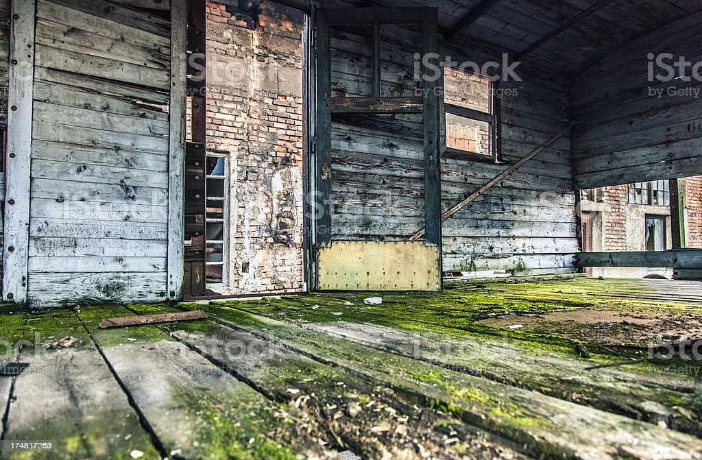 Old wooden cabin royalty-free stock photo