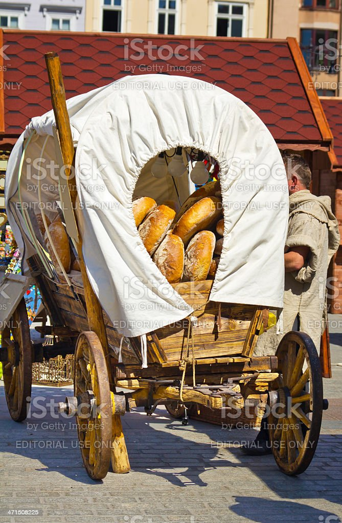 Old wooden cart royalty-free stock photo