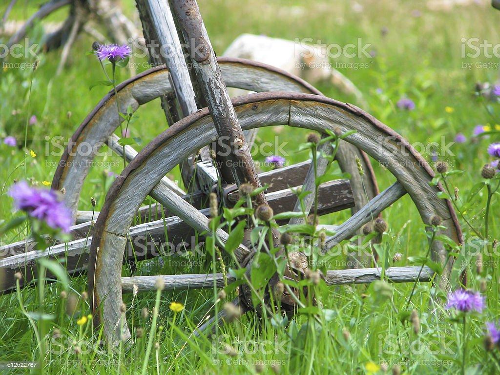 Старый Деревянный Делать колесо Стоковые фото Стоковая фотография