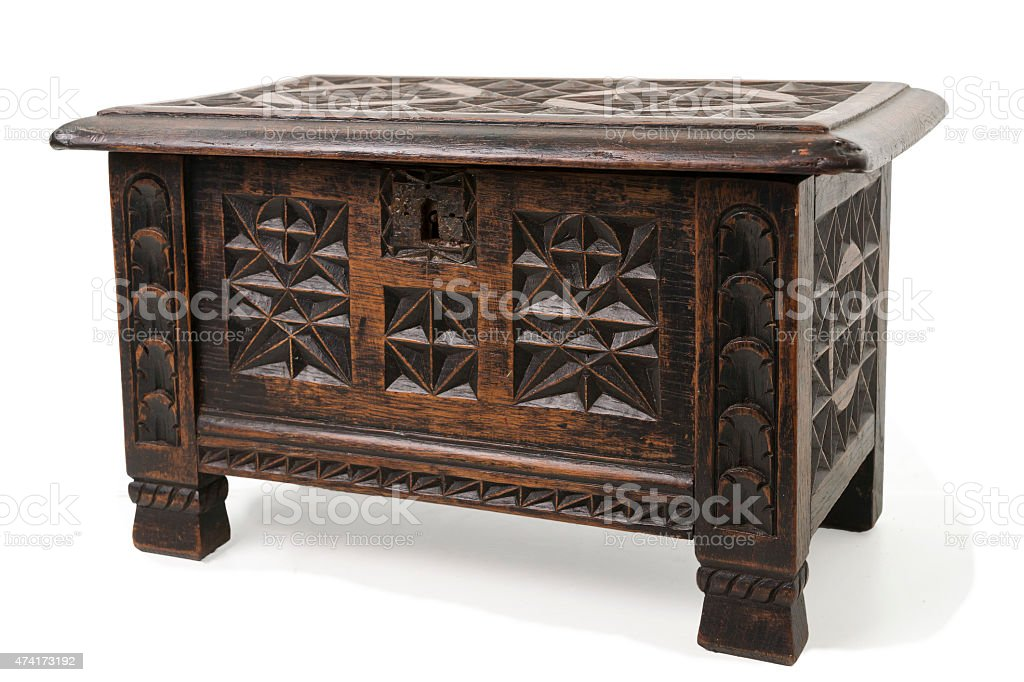 Old Wooden Chest stock photo