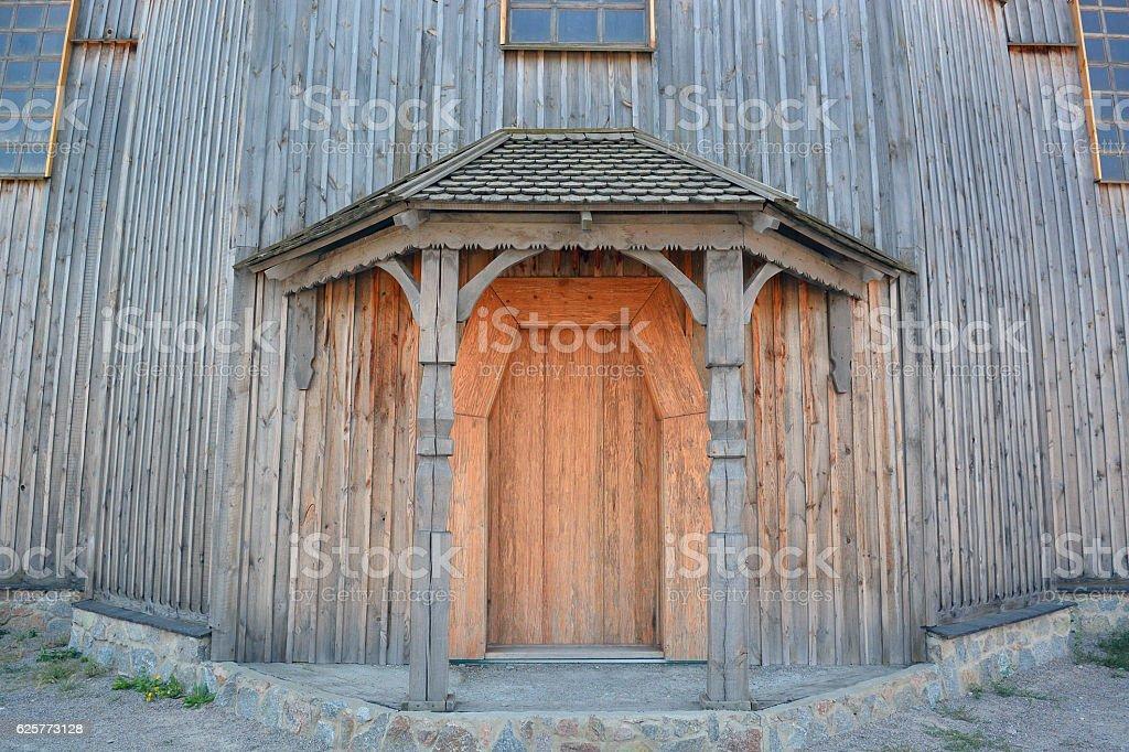 Vecchia chiesa di legno  foto stock royalty-free
