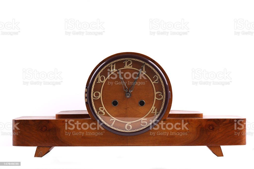 Old wooden clock royalty-free stock photo