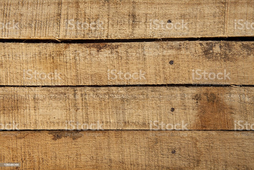 Old wooden crate stock photo