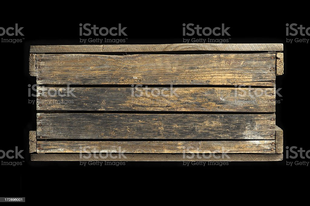 Old wooden crate royalty-free stock photo