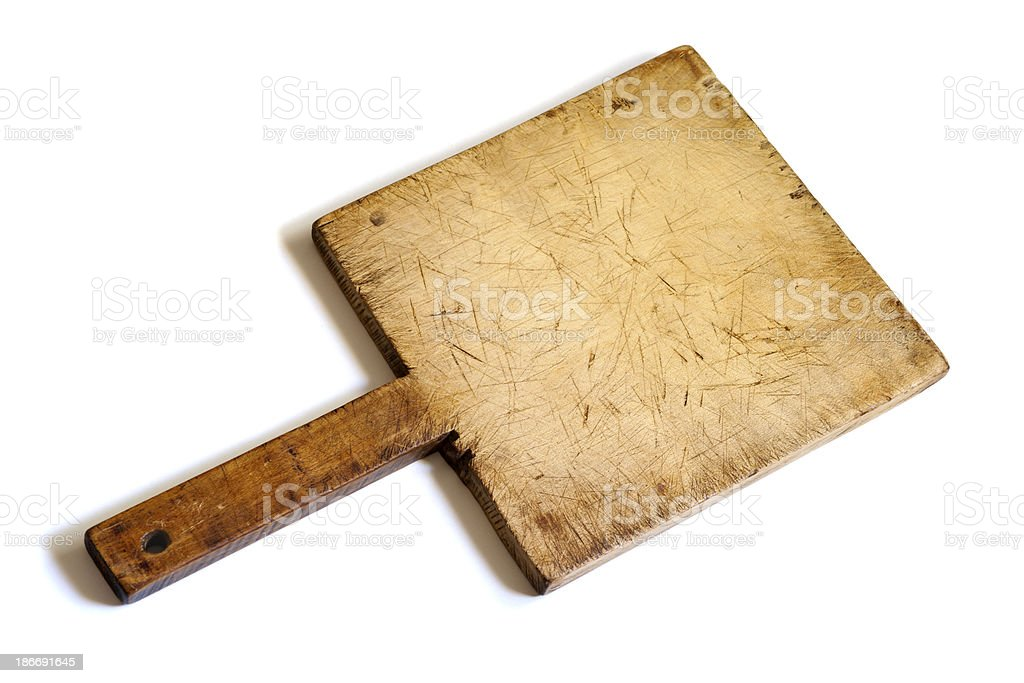 Old Wooden Cutting Board royalty-free stock photo