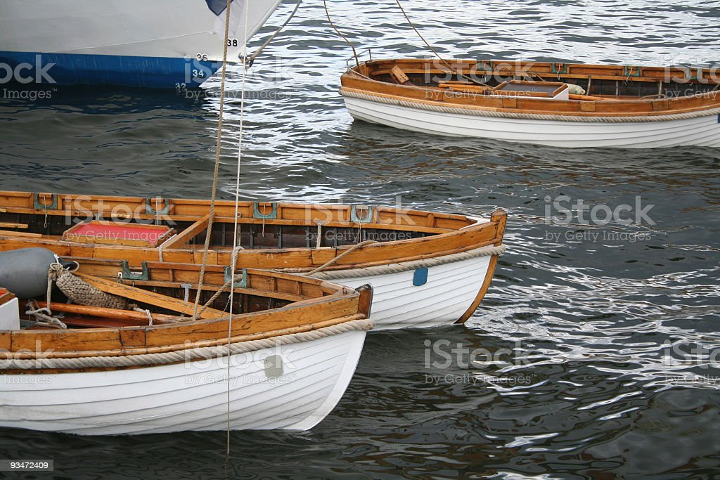 Old wooden dinghies royalty-free stock photo
