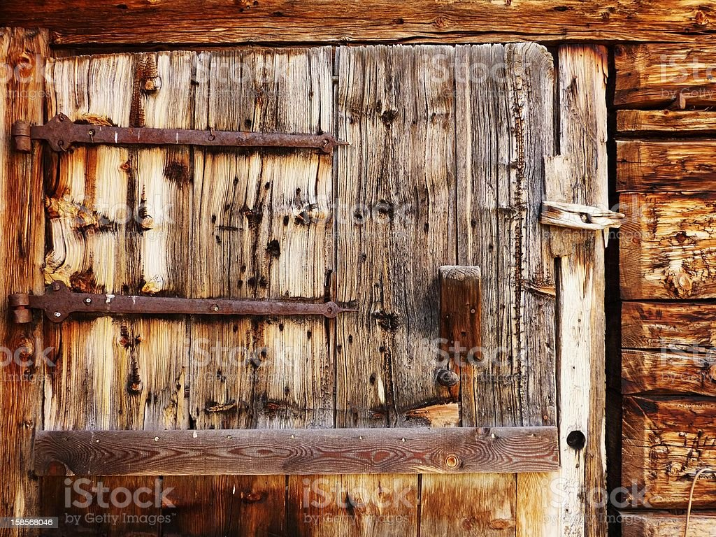 old wooden door as background royalty-free stock photo