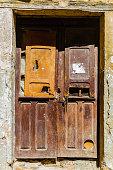 Old wooden door as background