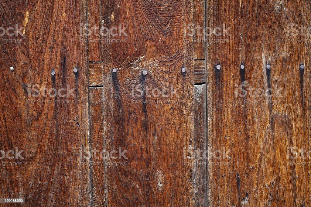 Old Wooden Door Detail royalty-free stock photo