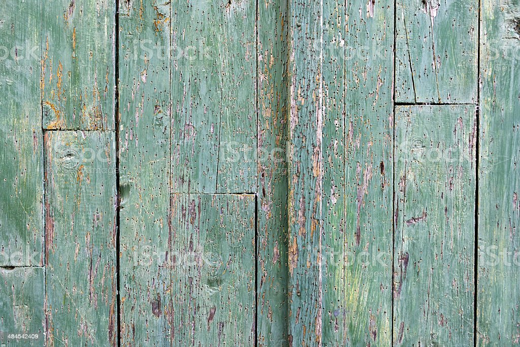 Old Wooden Door Detail stock photo
