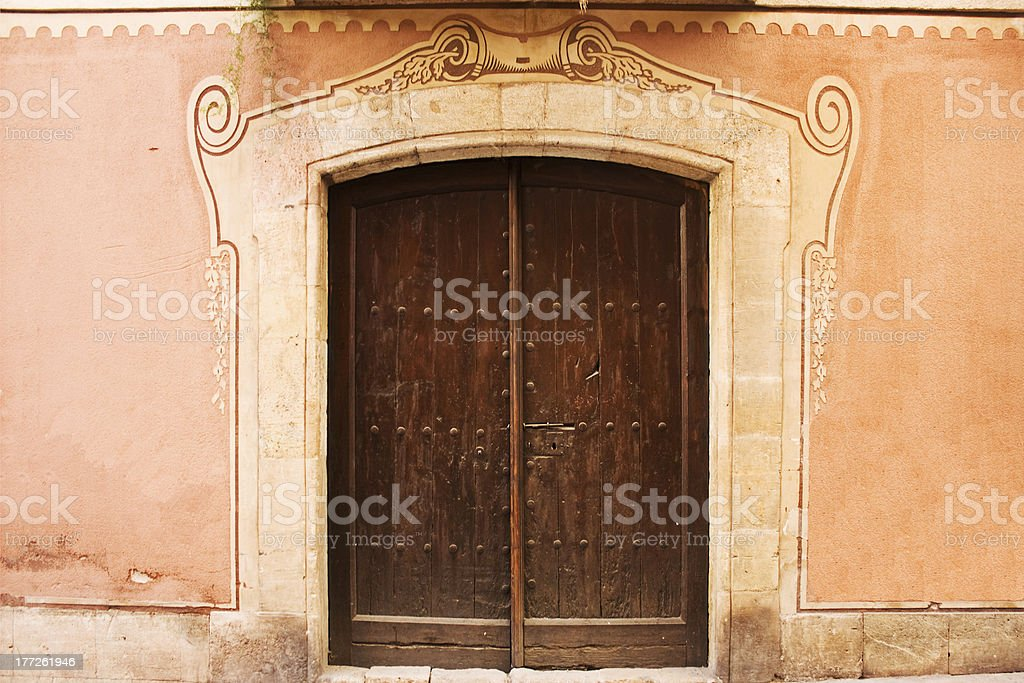 Old wooden Door. royalty-free stock photo