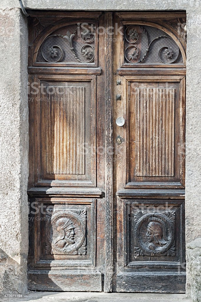 Velha porta de madeira foto royalty-free