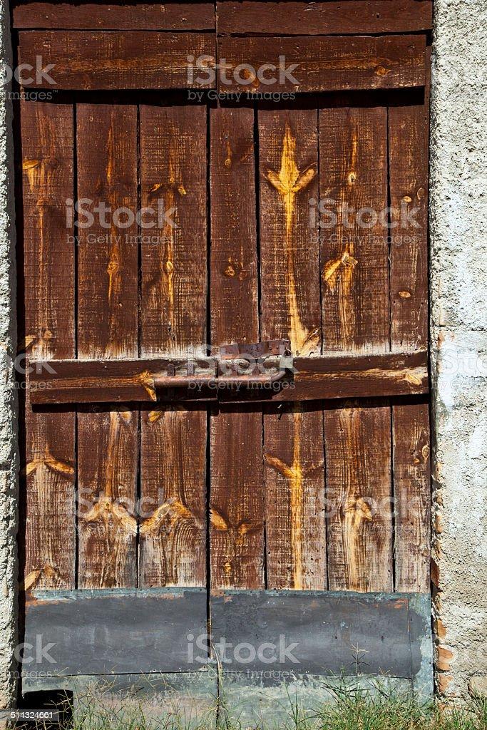 Старые Деревянная дверь Стоковые фото Стоковая фотография