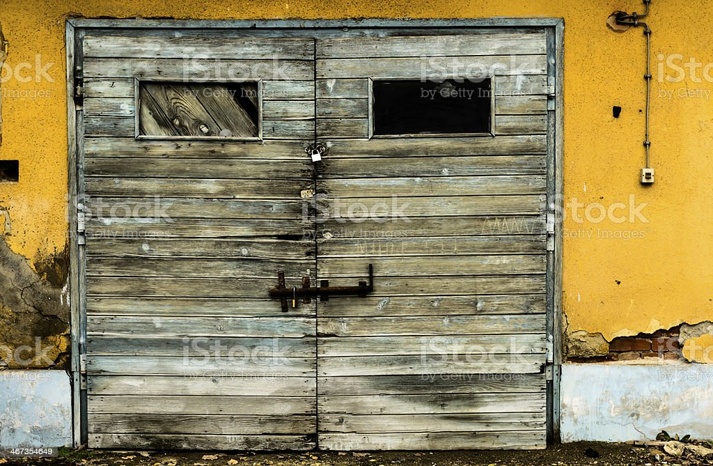 Old wooden doors royalty-free stock photo