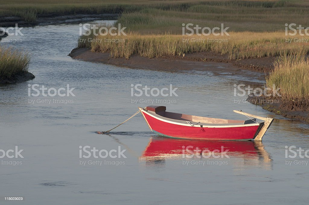 Old Wooden Dory royalty-free stock photo