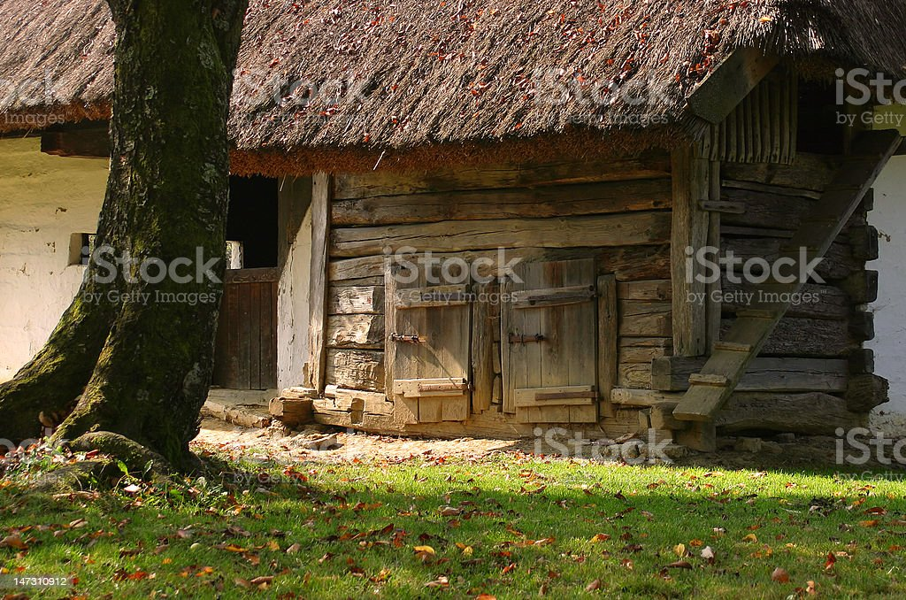 old wooden down-home  building royalty-free stock photo