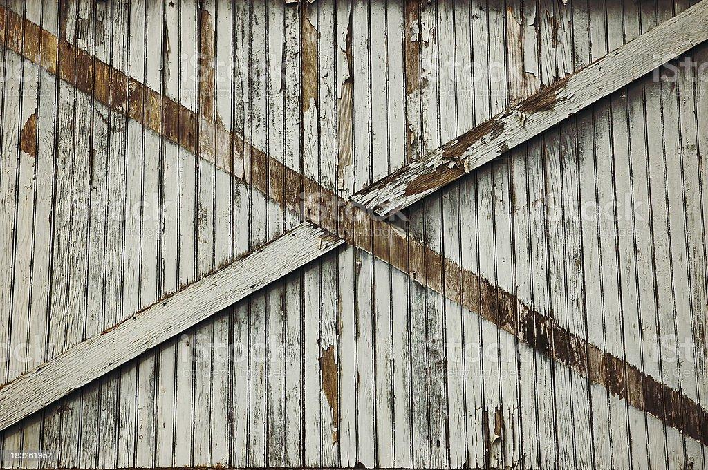 Old Wooden Factory Door - 2 royalty-free stock photo