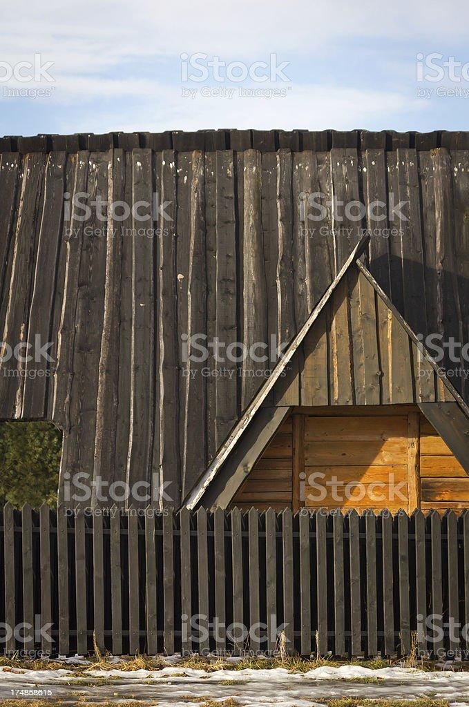 Old Wooden Farmhouse royalty-free stock photo