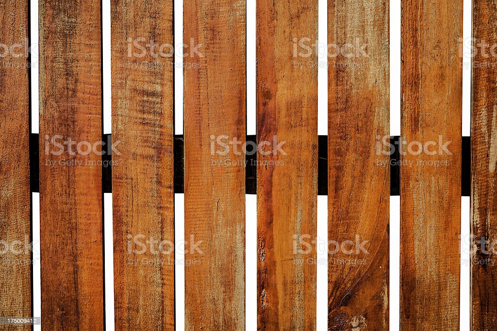 Old wooden fence in garden on white royalty-free stock photo