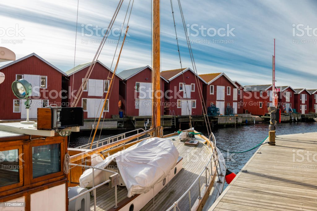 Old Wooden Fishing Boat royalty-free stock photo