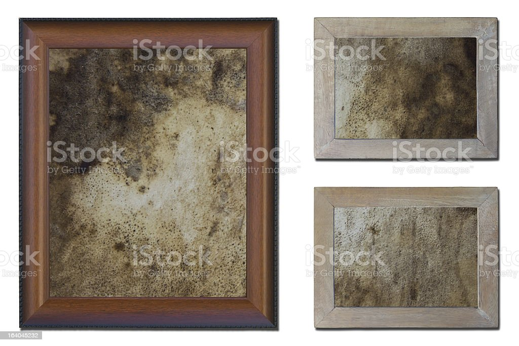 Old wooden frame isolated. royalty-free stock photo