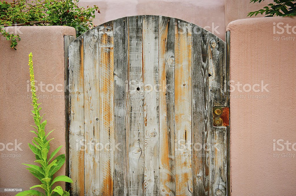 Old Wooden Gate Background royalty-free stock photo