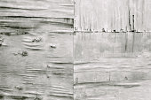 Old wooden gray dirty plywood wall, weathered grunge texture background