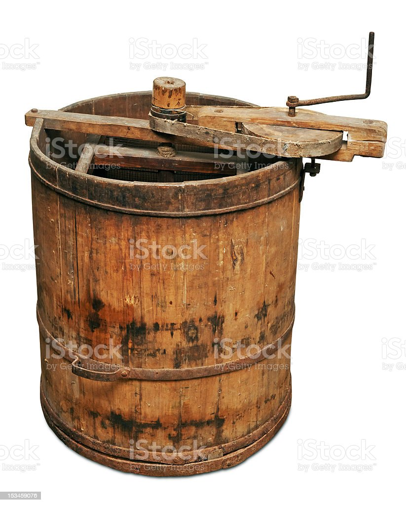 Old wooden honey extractor royalty-free stock photo