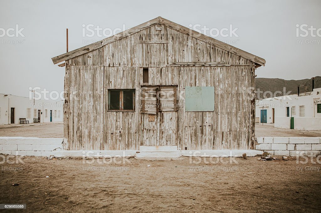 Old wooden house. stock photo