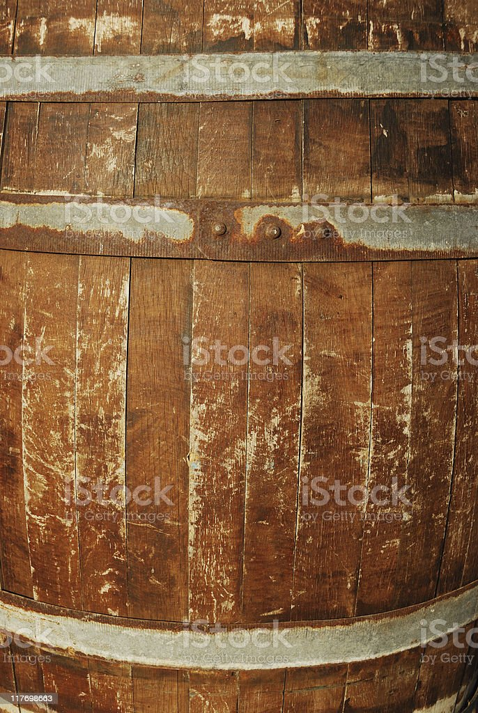 Old wooden keg royalty-free stock photo