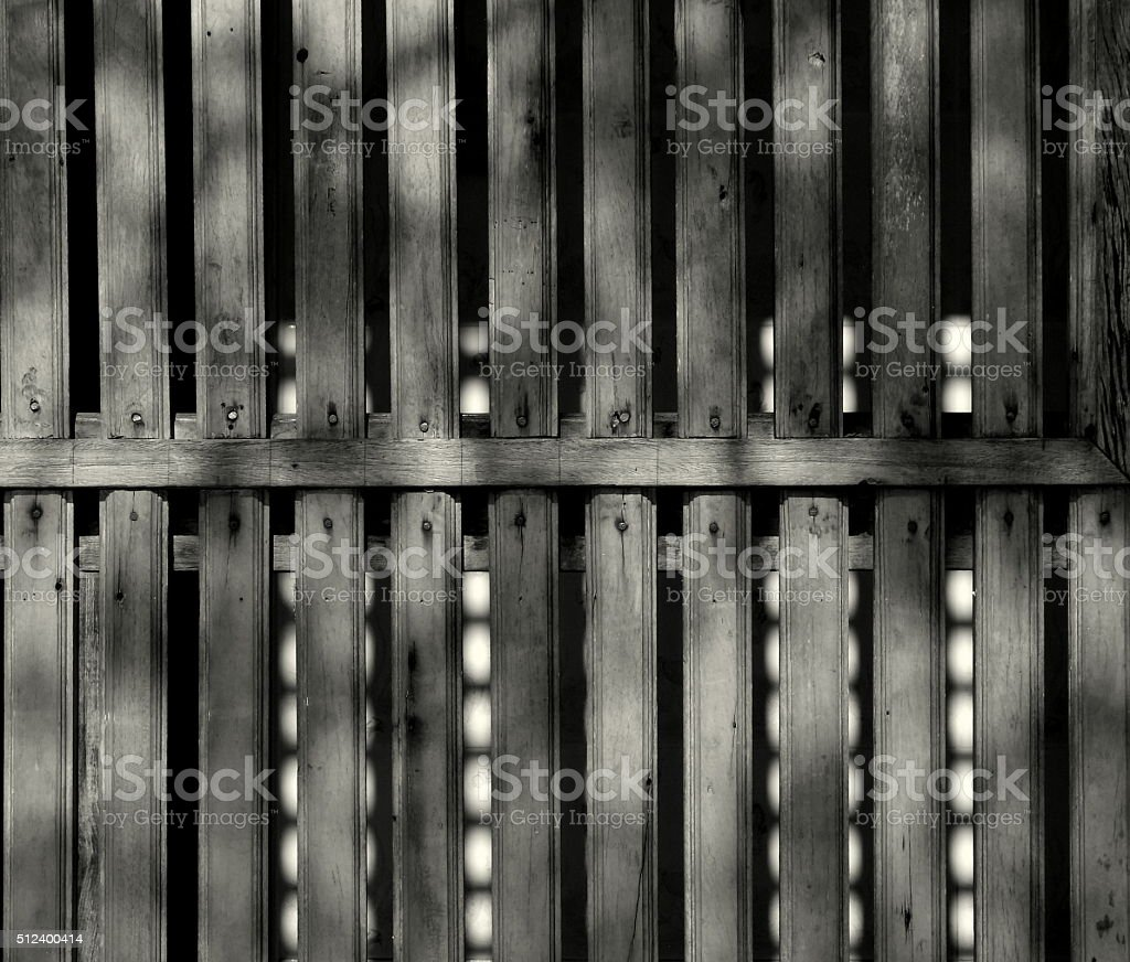Old wooden lath stock photo