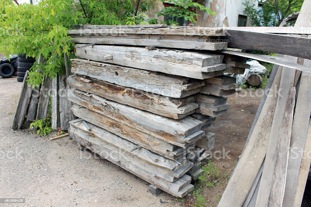 Old wooden log royalty-free stock photo