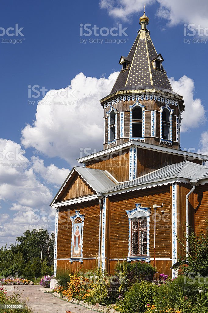 Old wooden orthodox church royalty-free stock photo