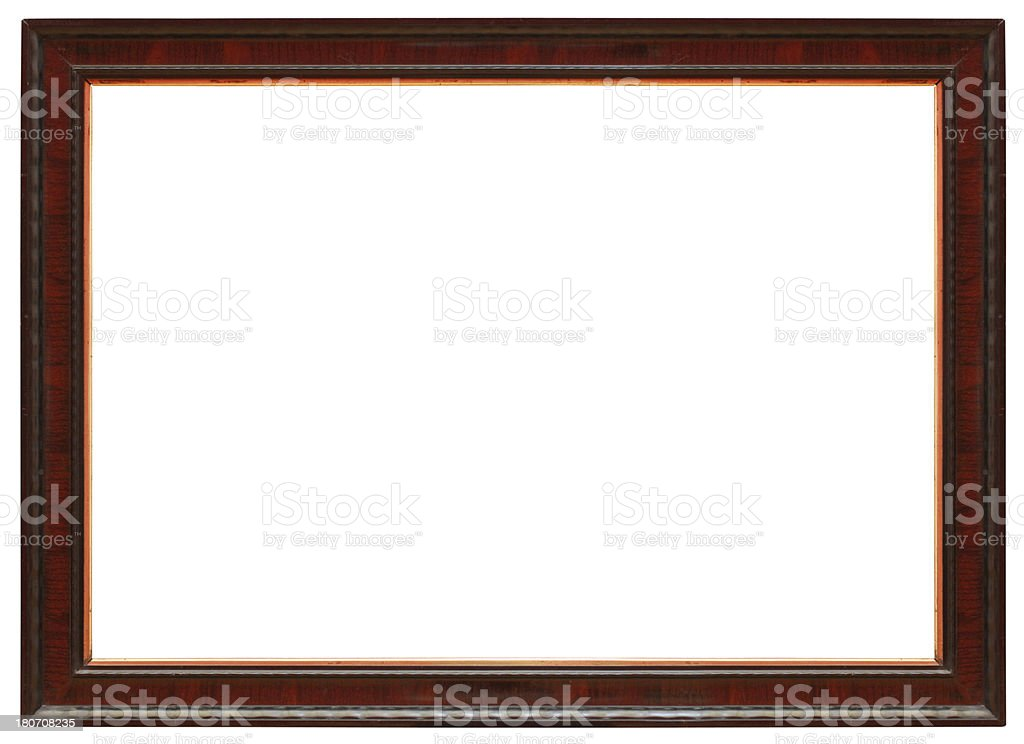 Old Wooden Picture Frame Clipping Path Included royalty-free stock photo