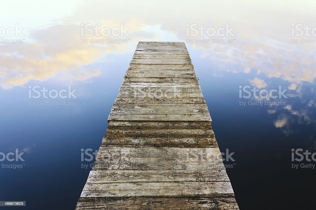 Old wooden pier royalty-free stock photo