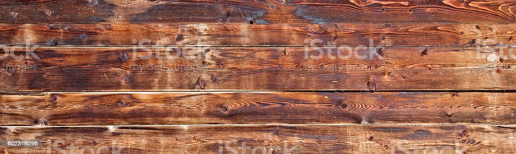 Old wooden planks background header stock photo